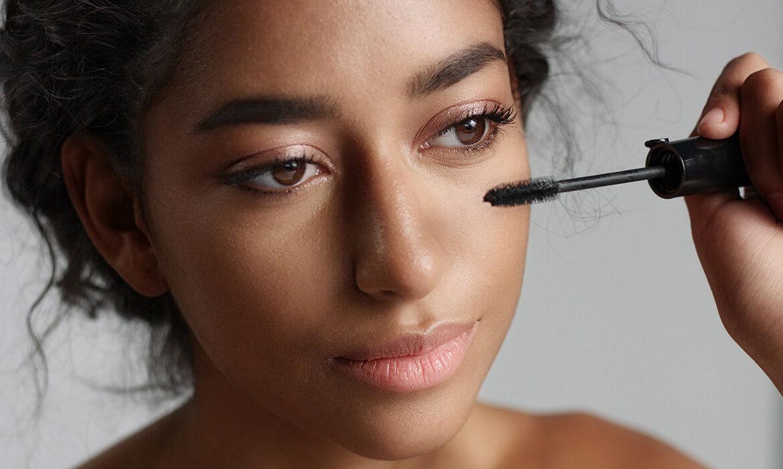 woman makeup routine