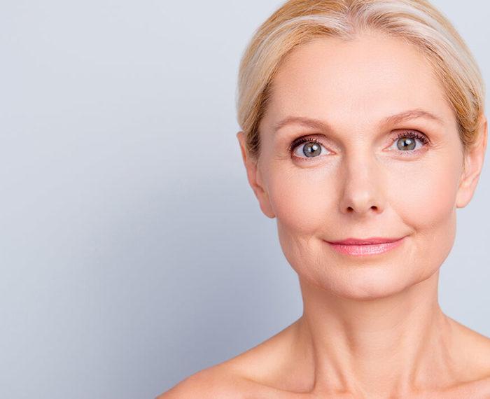 woman aging skin