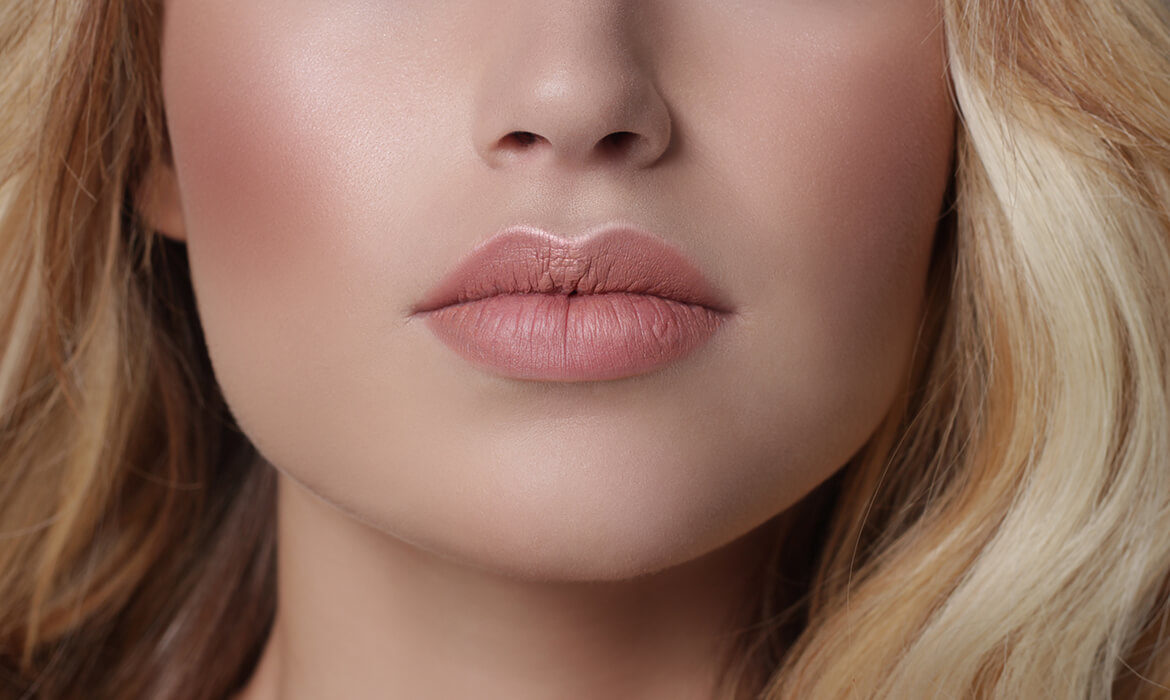 woman with full lips