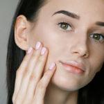 woman clogged pores