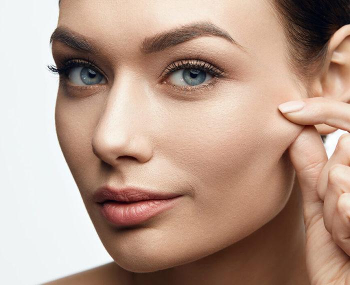 woman youthful skin