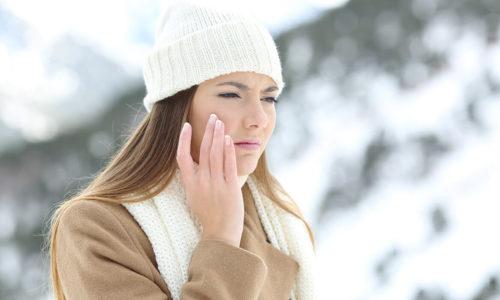 woman dry sensitive skin