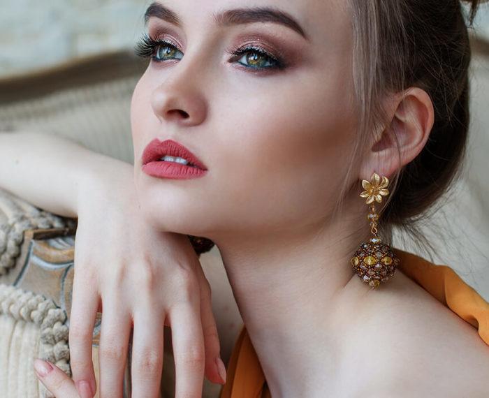 woman makeup application